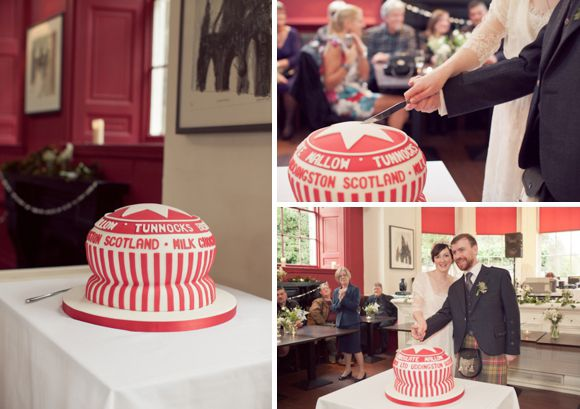Giant Tunnocks wedding cake!Giants Tunnocks, Features Vintage, Cake Wedding, Tunnocks Teacakes, Floral Headpiece, Teacakes Cake, Full Features, Baking, Blog Features