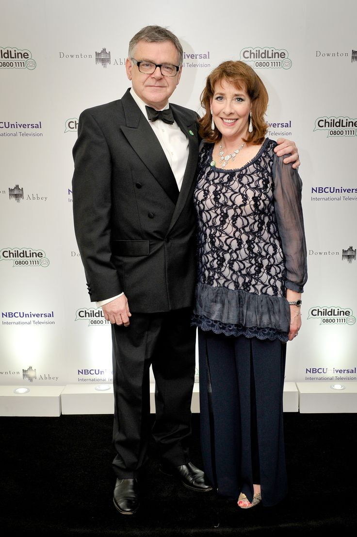 Kevin McNally and wife, Phyllis Logan at the Downton Abbey ChildLine Ball