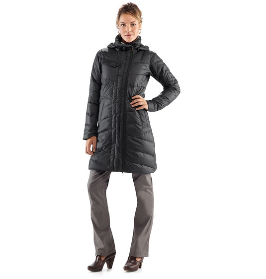 This weather makes me want a giant, long, puffy down coat!