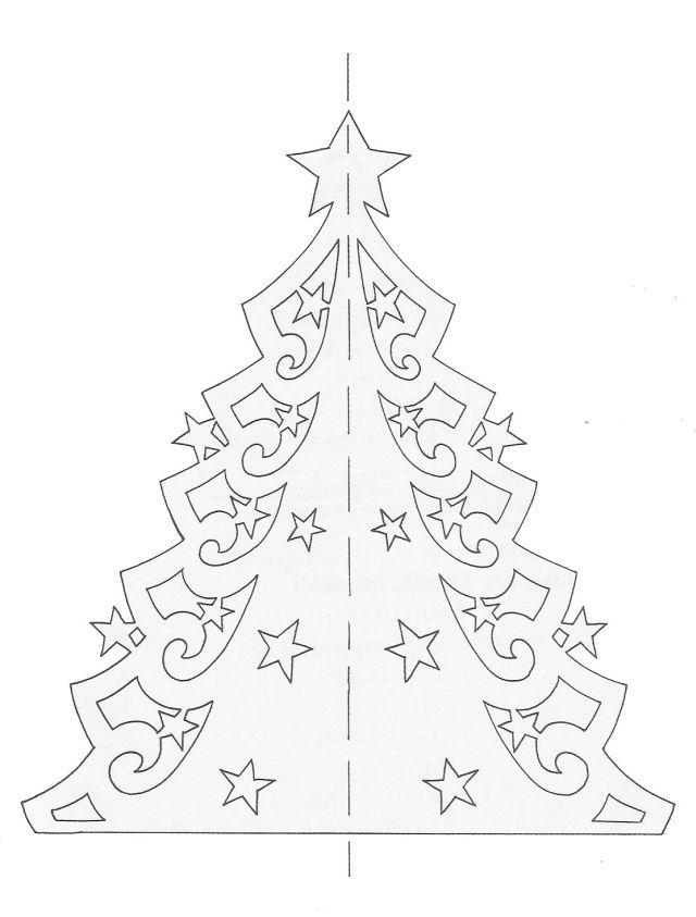 Filigrán karácsonyfa
