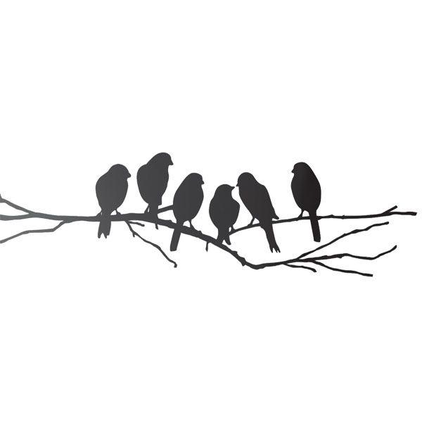 Lovebirds wall sticker