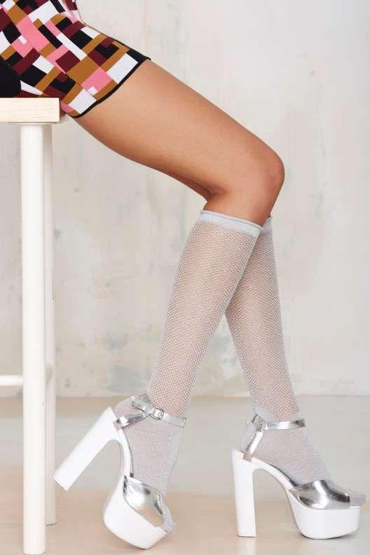 Feel The Steel Metallic Socks