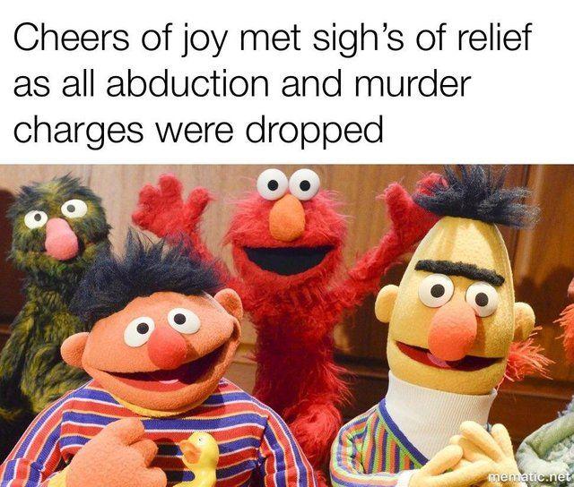 Case Closed Funny Sesame Street Memes Dark Humour Memes Elmo Memes