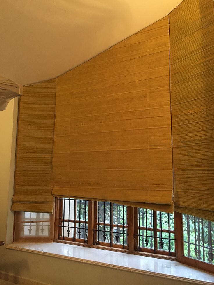 Banana fibre blinds woven with Fibonacci series concept