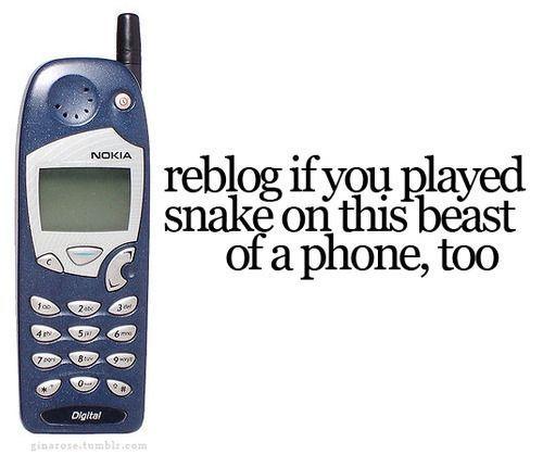 Playing Snake on the Nokia (old school,nokia snake)