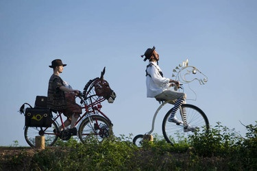 Don Quixote by Bicycle - on the Tarka Trail in North Devon