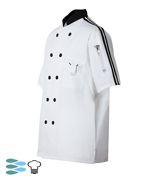 CookCool Top Stripe #SMART Chef Coat - Happy Chef Uniforms- On sale for $16.99