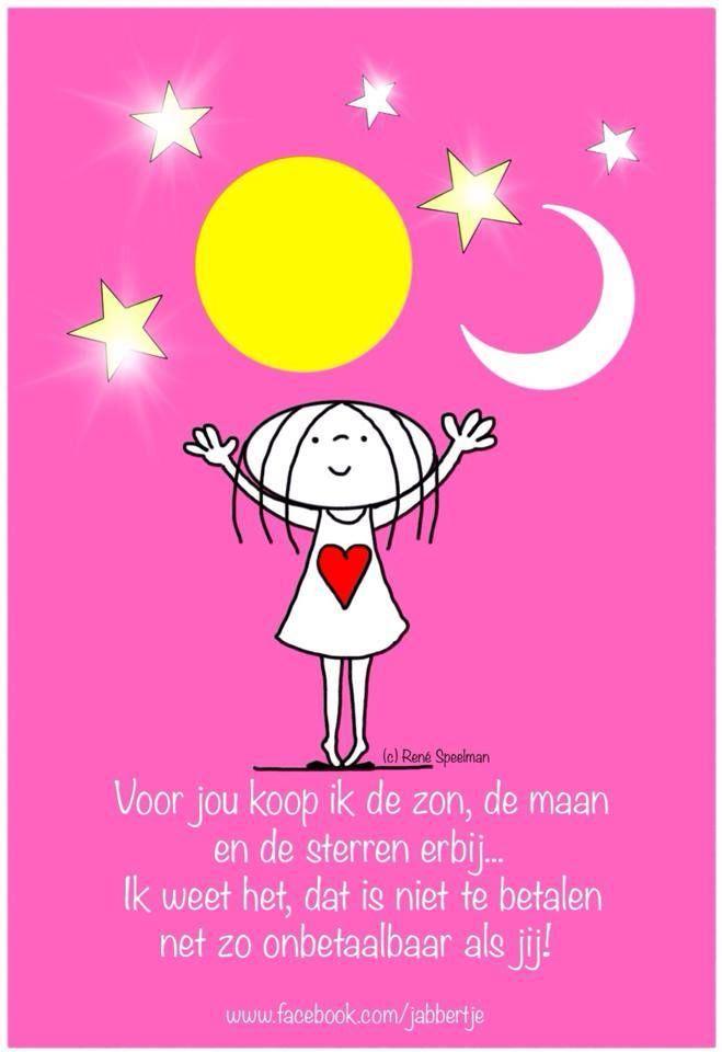 Voor jou koop ik de zon, de maan en de sterren erbij #jabbertje