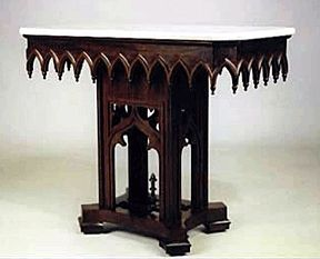 Image detail for -gothic revival furniture followed the lines and details  of gothic .