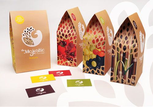 The Majestic Porridge Packaging Design - follow the link to see more beautifully designed packages
