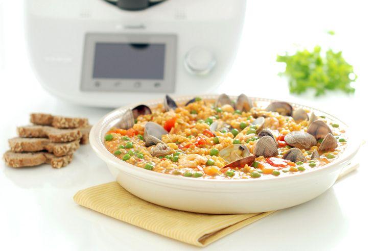 Receta de arroz caldoso con almejas y gambas en thermomix - Arroz con gambas y almejas ...