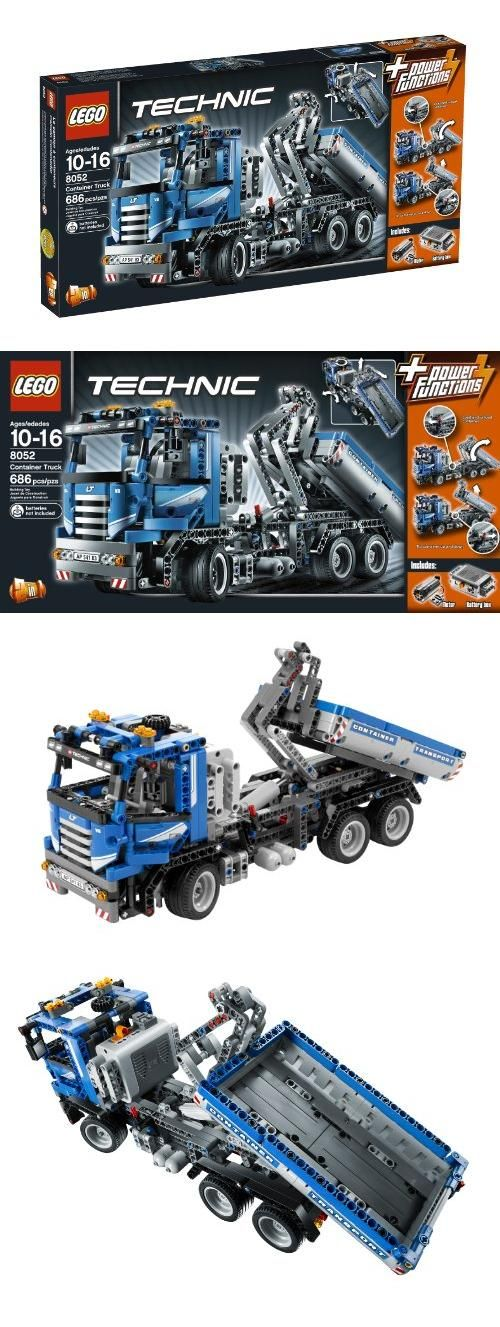 LEGO TECHNIC Container Truck 8052, LEGO TECHNIC 8052 CONTAINER TRUCK w/ MOTOR & Battery Box 686 Pieces New for 2010 In Hand Ready to Ship, #Toys, #Building Sets