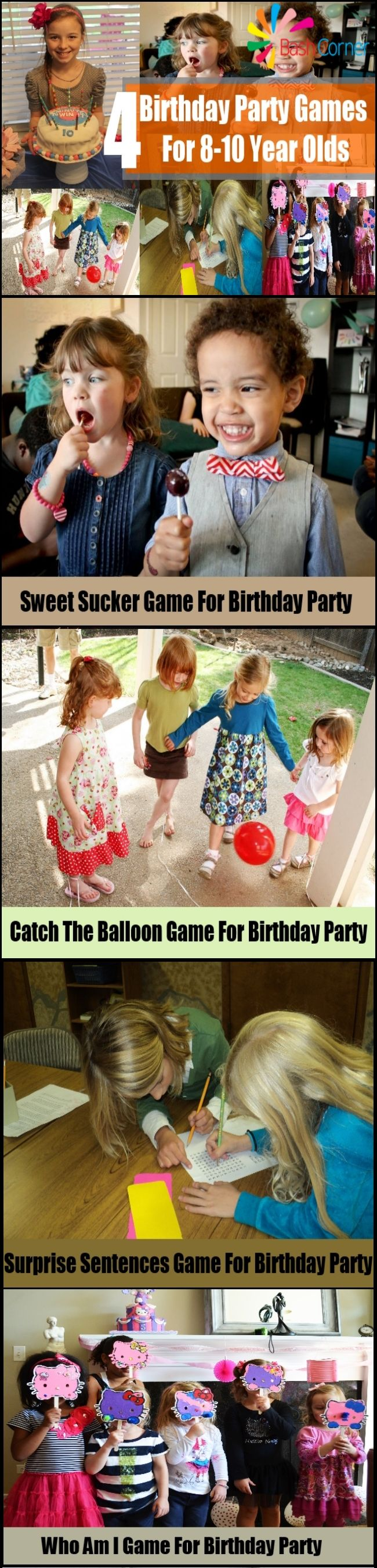 4 Birthday Party Games For 810 Year Olds Celebration