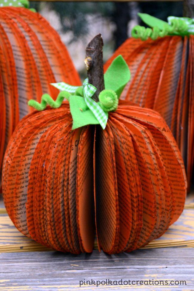 17 best images about paperback pumpkin on pinterest for Pumpkin stems for crafts