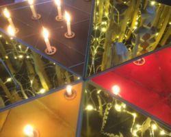 Schwarz-Rot-Gold : Lichtkunstinstalltion von Istvan Seidel