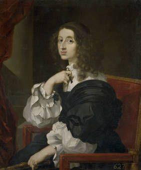 """La reina Cristina de Suecia"", Sébastien Bourdon, Ca. 1653, Óleo sobre lienzo"
