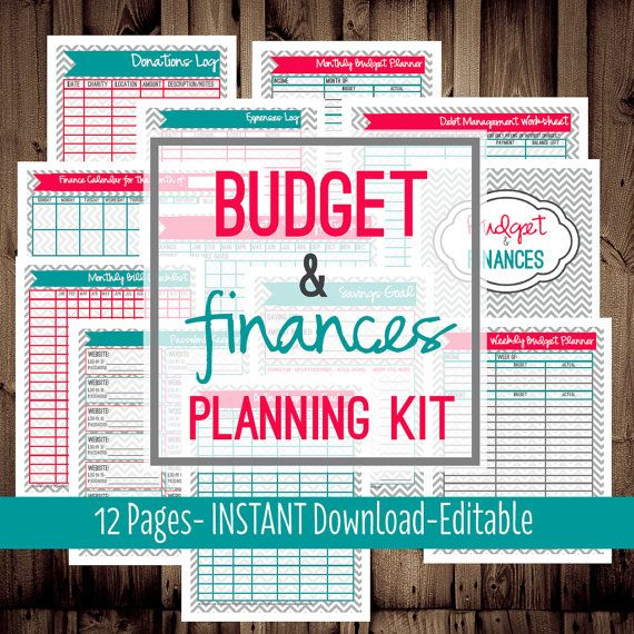 Budget Planner-Family Budget Planner-Monthly Budget Planner-12 Sheets ...