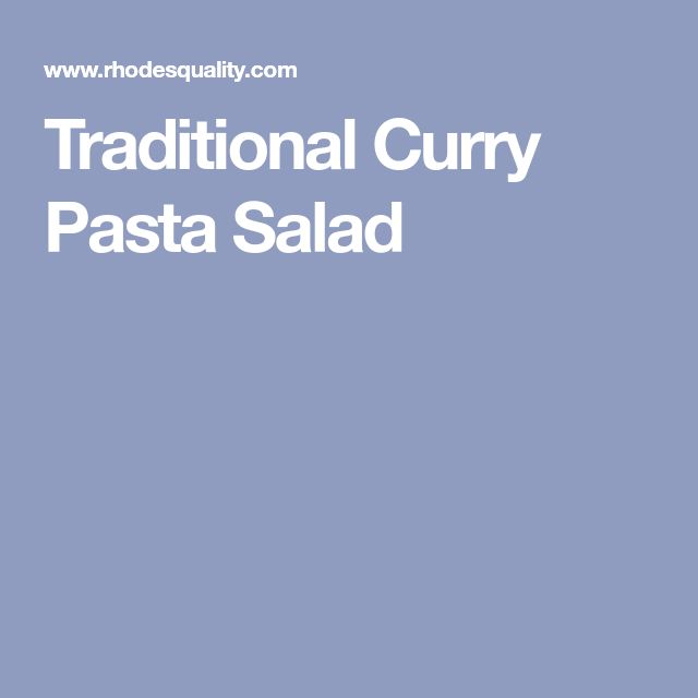 Traditional Curry Pasta Salad