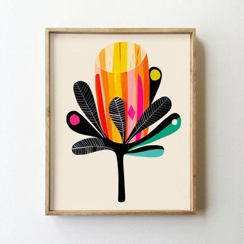 Banksia Abstract Art Print