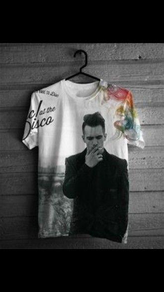 shirt panic! at the disco hipster gospel band merchandise girly t-shirt printed t-shirt