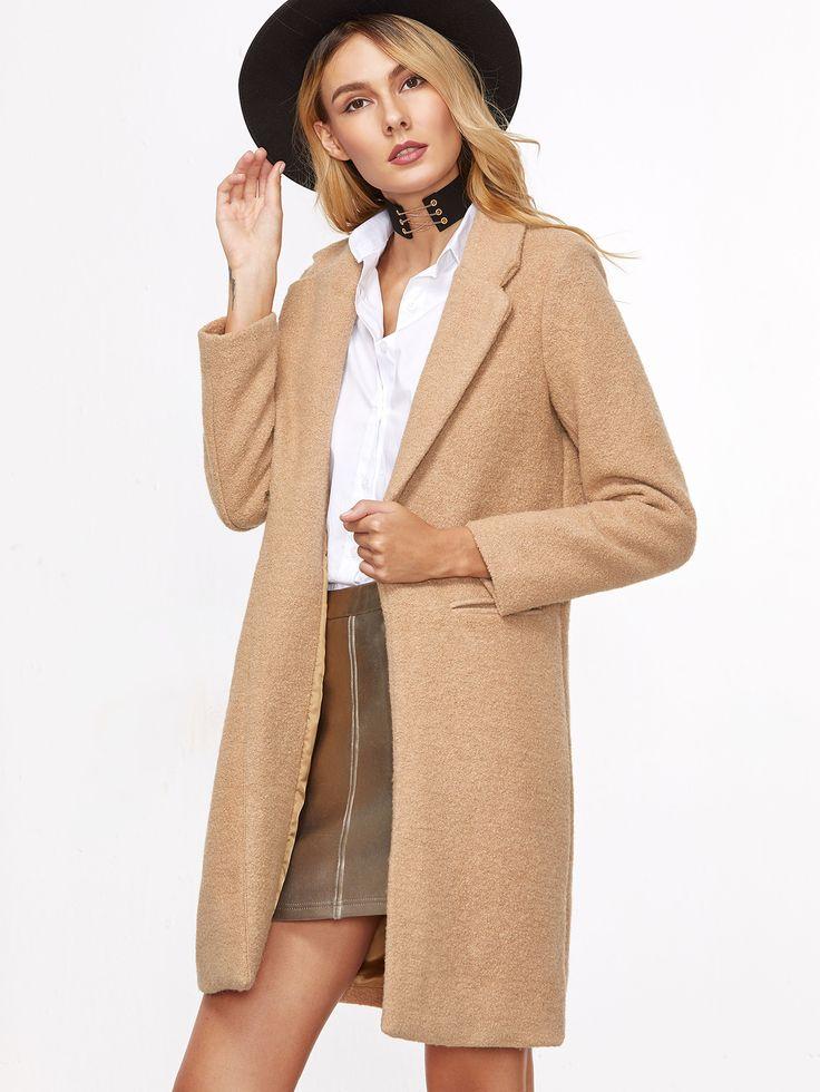 Shop Khaki Lapel False Pocket Long Coat online. SheIn offers Khaki Lapel False Pocket Long Coat & more to fit your fashionable needs.