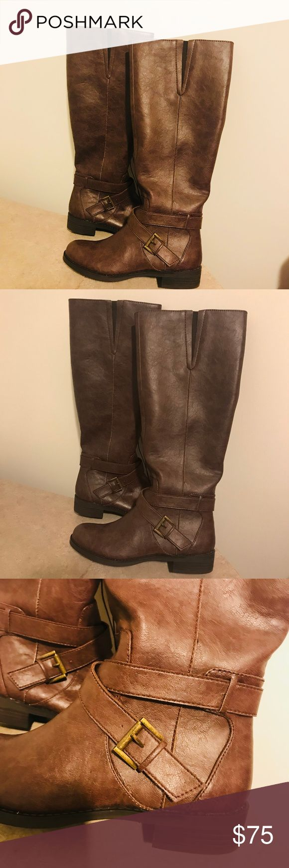 Kenneth Cole Reaction Women's Riding Boots Brown New in Box. Knee high boots. Perfect condition Kenneth Cole Reaction Shoes Winter & Rain Boots