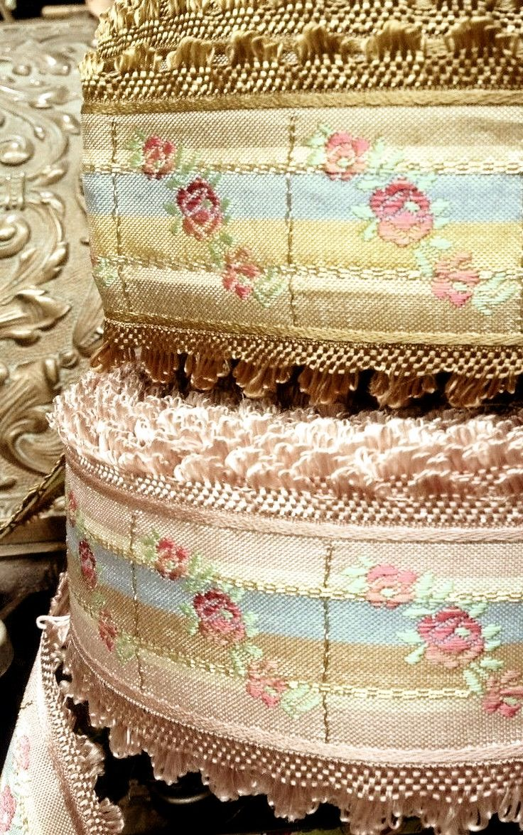 Vintage French Jacquard ribbon