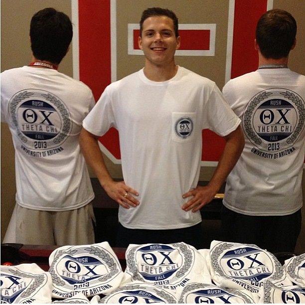 Thanks for the #shoutout @uofathetachi! One of our favorite #fraternity shirts of the year so far. #pocket #tshirt #UofA #greeklife #rush #ThetaChi #RushThetaChi #gogreek
