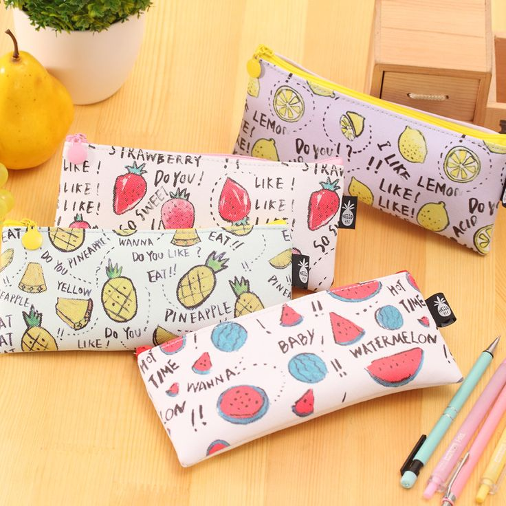 JDANCE candy Banana/strawberry/watermelon pencil case PU leather school pencil bag for girl stationery  school supplies