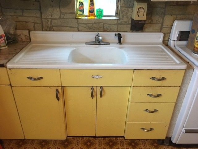 Youngstown Kitchen Cabinets By Mullins Vintage Retro Sink Antique Metal Ebay Vintage Kitchen Appliances Metal Kitchen Cabinets Retro Kitchen