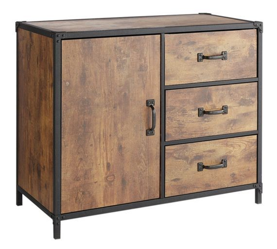 Size H685 W83 D40cm Buy HOME Darren 1 Door 3 Drawer