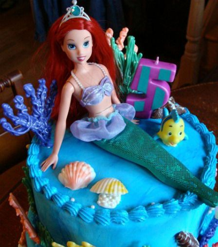 Ariel Birthday Cake Ideas | Little Mermaid Party Ideas - Little Mermaid