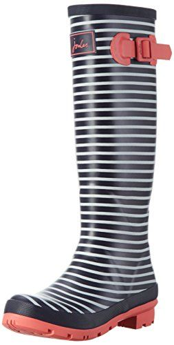 New Outdoor Shoes Joules Women's Welly Print Rain Boot, Navy Mini Stripe, 8 M ...