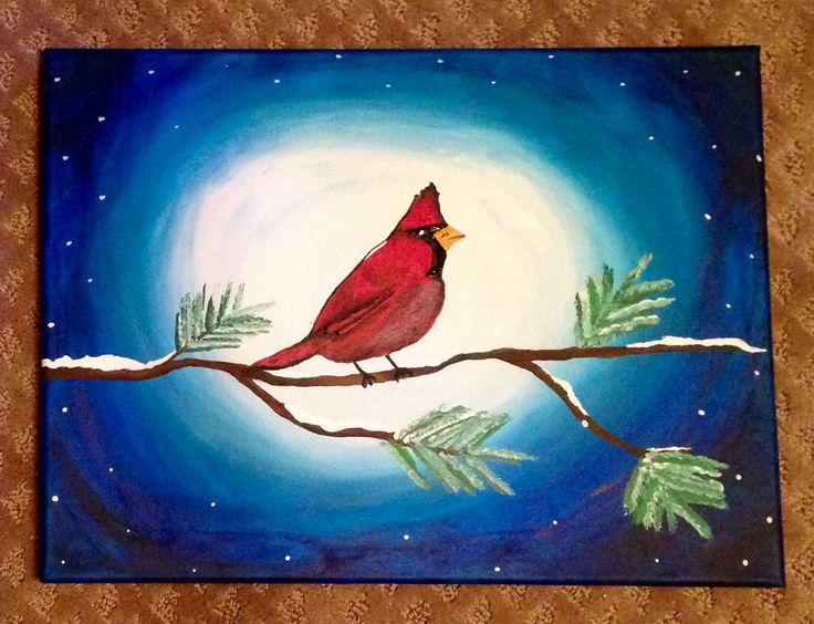 Winter Cardinal - Acrylic