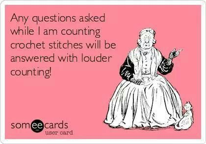 unless i really like you, then i might stop and start over counting after you're done talking to me.  Goes for knitting, too.