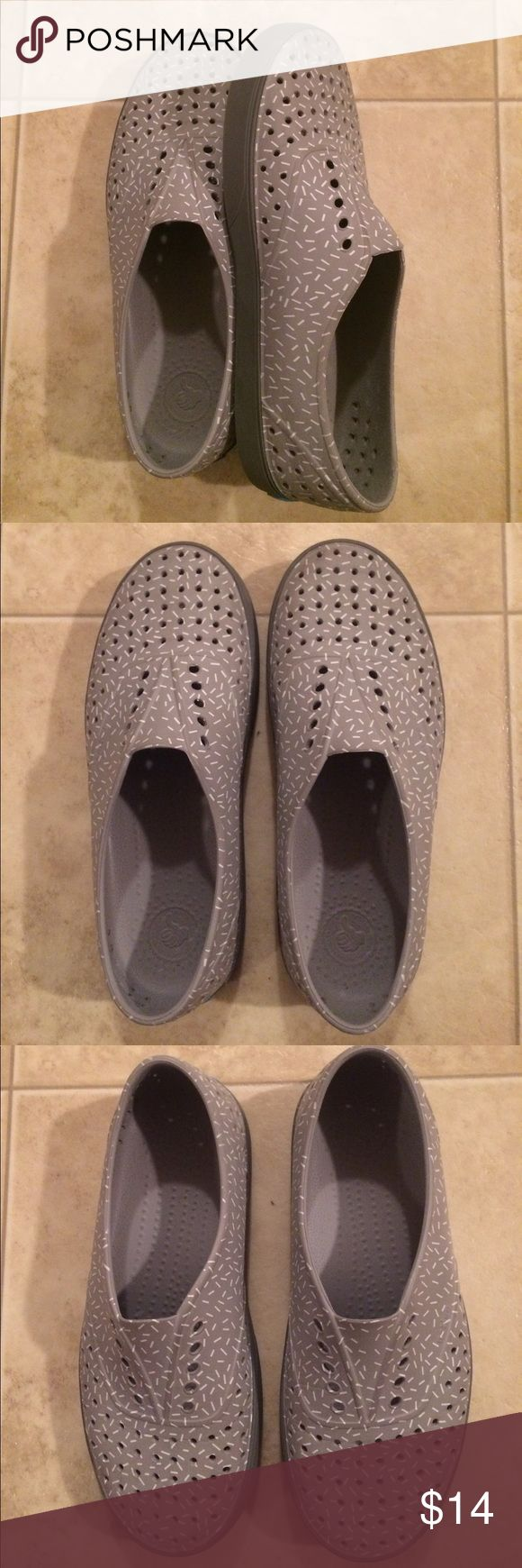 $10 women's native brand slide on shoes Worn once! Excellent condition. Native Shoes