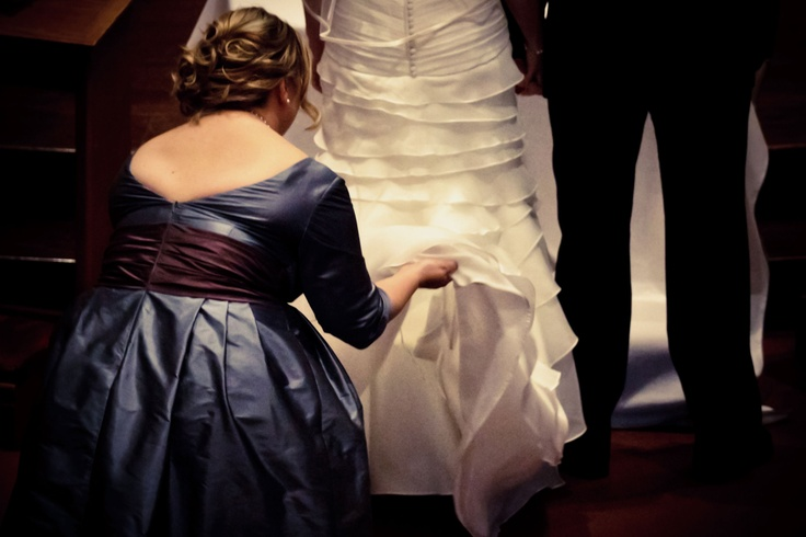 The maid of honor's job is never done.