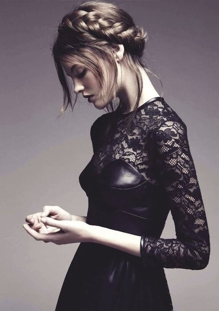 Lace & Leather Dress by Mulberry