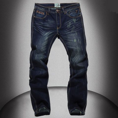High Quality Mens Jeans Famous Brand Designer Straight Slim – WILLSTYLE