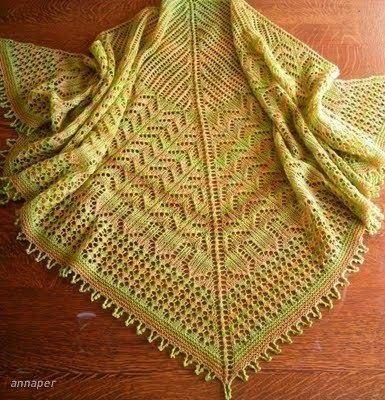 Модели вязания: Шаль Мохана