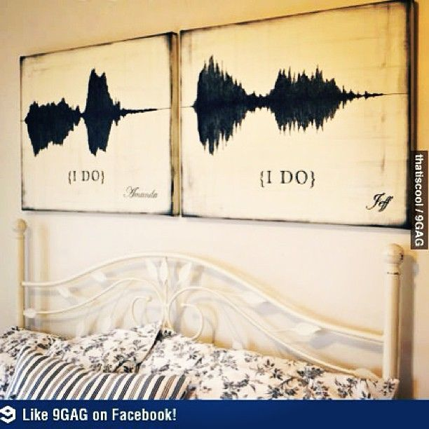 """""""I Do"""" voice waves. I want to do this with my husband."""