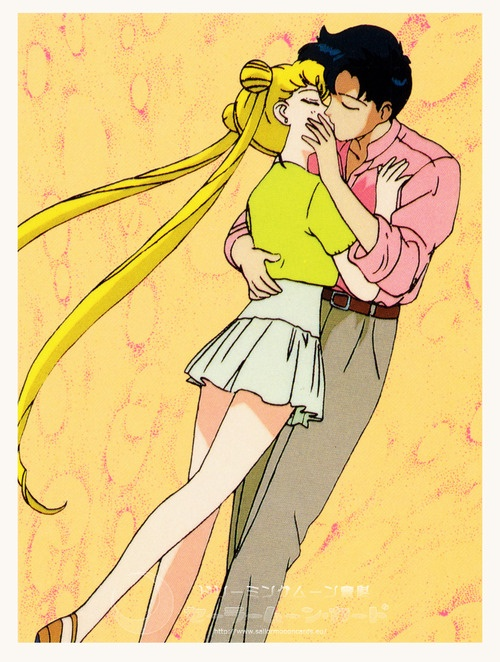 Sailor Moon R. Tsukino Usagi and Chiba Mamoru. (Anime)