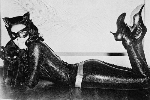 Batman Lee Meriwether lying on floor in Catwoman leathers & boots 24x36 Poster @ niftywarehouse.com #NiftyWarehouse #Batman #DC #Comics #ComicBooks