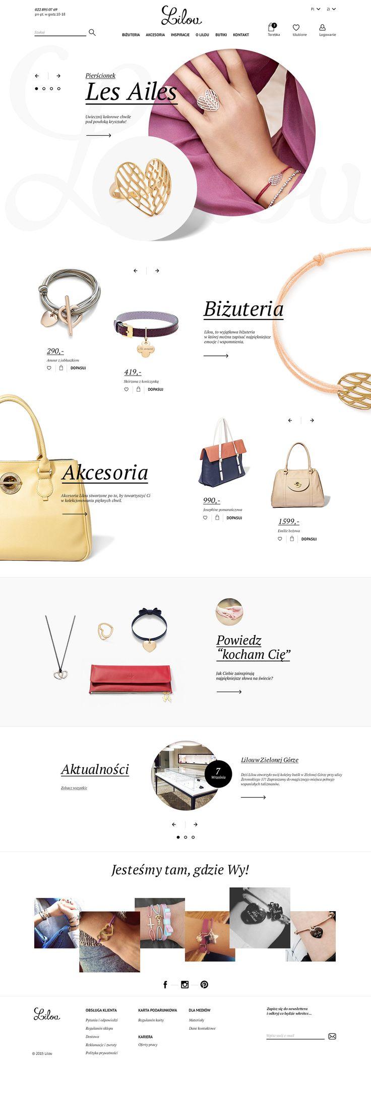 Website project for polish jewelry company - Lilou.