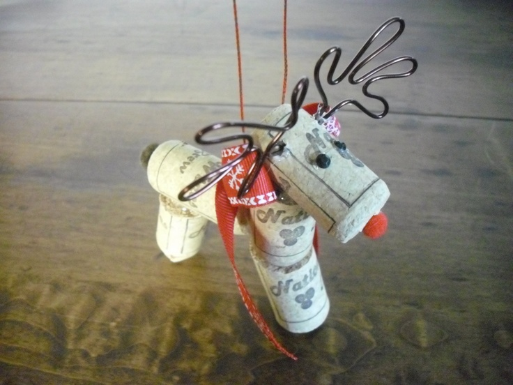 Reindeer Christmas Ornament.  just a picture (no tutorial)