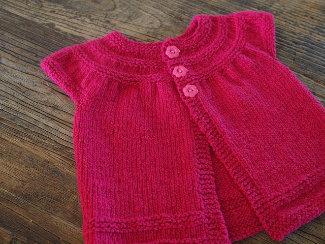Knitting Pattern Baby Cardigan 8 Ply : In Threes by Kelly Without A Net - this was a very simple pattern. Im no...