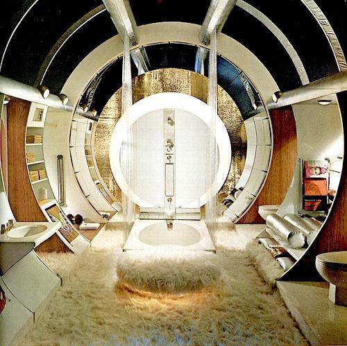 Star Wars bathroom?!  Cool design... crazy Wookie carpeting...!: 1970, Modern Man, Homes Improvements, Interiors Design, Spaces Age, Mancave, Bachelor Pads, Man Caves, Master Bathroom