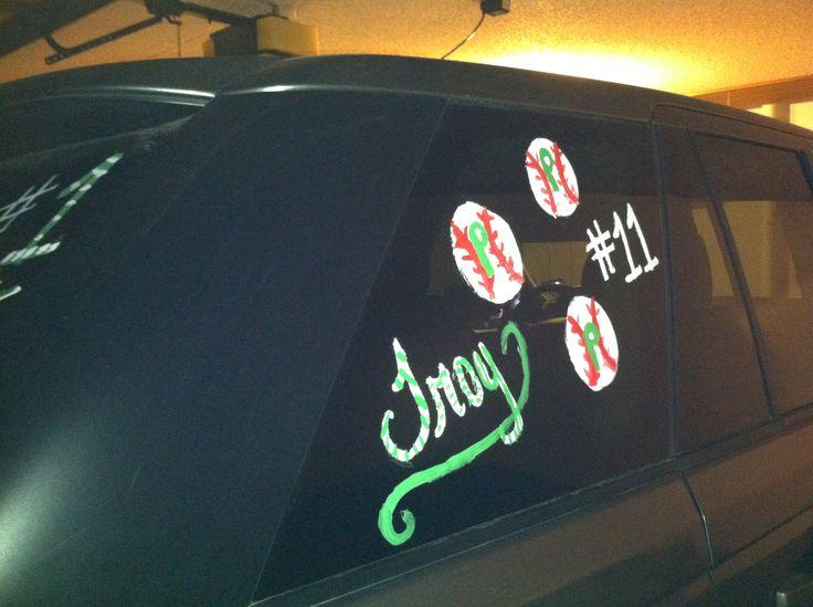 Go Troy Perez- go Pampa!! My baseball car decor to support Pampa allstars!! Go Pampa tx