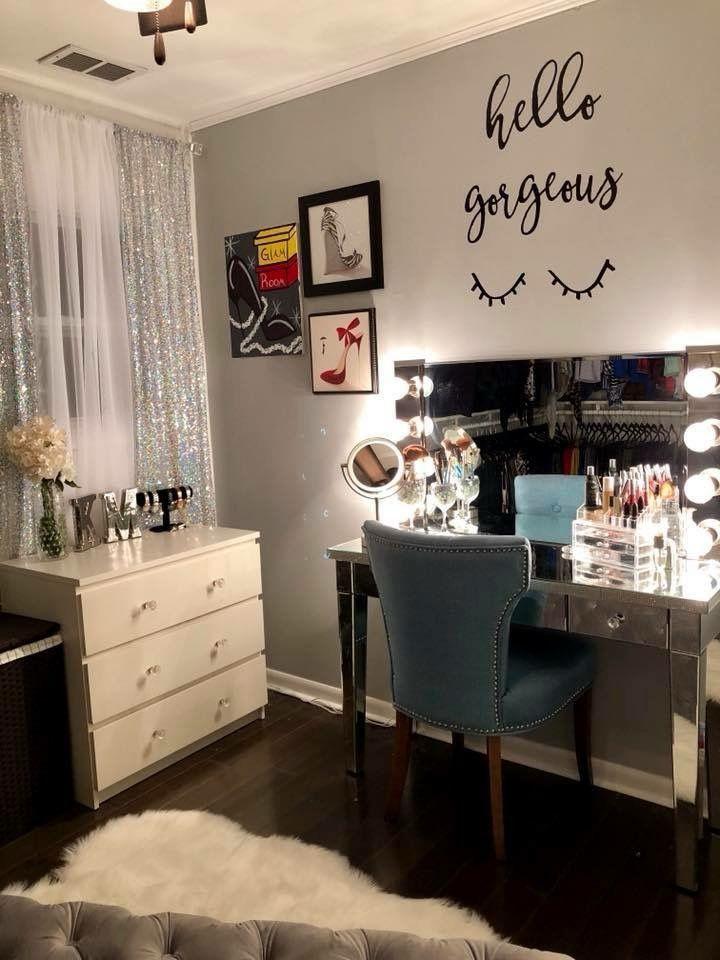 28+ DIY Simple Makeup Room Ideas, Organizer, Storage and ... on Makeup Room Ideas  id=18687