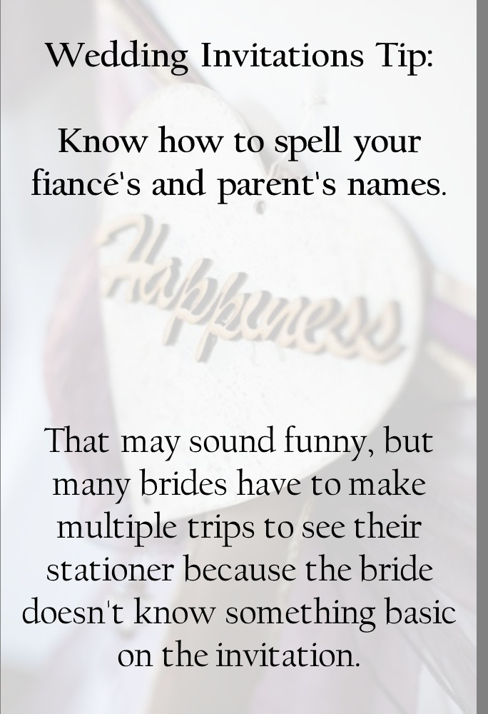 wedding invitations tip know how to spell your fiance 39 s